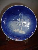 "1974 Bing & Grondahl Porcelain Christmas Plate ""Christmas in the Village"""