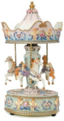 """MusicBox Kingdom 14031 Carousel with Angel Music Box Playing """"Dixieland"""""""
