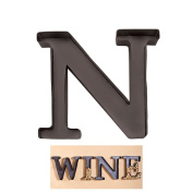 "Personalised Letter ""N"" Metal Wall Wine Cork Holder - Monogram Wall Art"