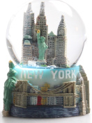 "New York City Snow Globe Featuring the NYC Skyline in this Souvenir Figurine with Statue of Liberty, 2.5"" Tall"