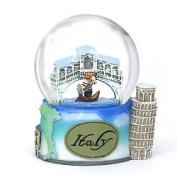 Italy Snow Globe of Rome, Pisa and Venice. 3.5 Inch (65mm) Italy snow globe
