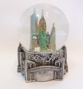 New York Silver Lined 80mm Snow Globe