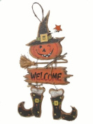 Craft Outlet Wooden Witch Wall Hanging, 25cm by 60cm