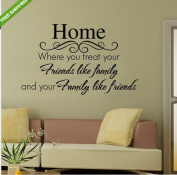 MECO(TM) Quote Home Friend Family Art Word Vinyl Decal Removable Wall Sticker Mural Decor