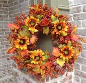 Sunflower Harvest Wreath - 60cm