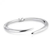 Bling Jewellery 925 Sterling Silver Hinged Bangle Bracelet 18cm