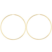 14K Yellow Gold 1.5mm Thickness High Polished Extra Large Endless Hoop Earrings