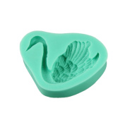 Voberry Swan Fondant Cake Moulds Soap Chocolate Mould for the Kitchen Baking Clay Mould