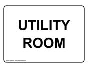 ComplianceSigns Plastic Room Name Sign, 18cm x 13cm . with English Text, White