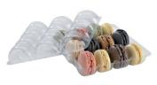 PacknWood 210MACINS12 Recyclable Plastic Rectangular Insert for 12 Macaroons, for 210KRAY155, 210SAMRED160 or 210BBOXATLASF, Top and Bottom,