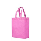 Reusable Gift / Party / Lunch Tote Bags - 25 Pack - Pink