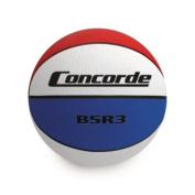 Concorde Rubber Game Basketball, Red/White/Black, Size 5