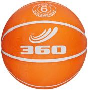 360 Athletics Playground Rubber Basketball, Size 6, Orange