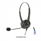 Dual Ear Call Centre Headset for Polycom SoundPoint IP Phones with RJ9 Headset Jack