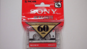 Sony 60 Minute Blank Microcassette Tapes MC-60, Set of 3