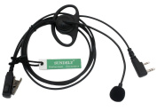 SUNDELY D-Shape Earpiece/Headset with Boom Mic VOX For Wouxun Radio 2 Pin Jack