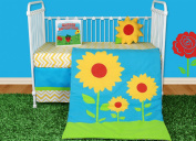 Snuggleberry Baby SB-SL501 Sunflower Love 5 Piece Crib Bedding Collection