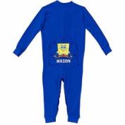 Personalised SpongeBob SquarePants Baby Boy Royal Blue Playwear