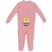 Personalised SpongeBob SquarePants Baby Girl Pink Playwear