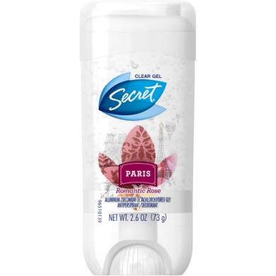 Secret Paris Romantic Rose Clear Gel Antiperspirant/Deodorant, 80ml