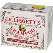 J.R. Liggetts 1520576 Old Fashioned Bar Shampoo Counter Display Jojoba and Peppermint 100ml Case o