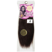 Envy Hair Collection Silky Straight Weave Hair Extension, 4 Medium Brown