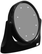Rucci M957 Black Led Lighted Vanity Stand Mirror
