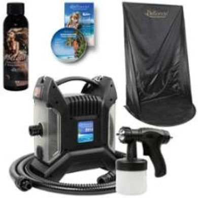 T85 PRO Sunless Airbrush SPRAY TANNING SYSTEM Belloccio Opulence Curtain Tent Kt