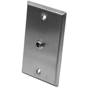 Seismic Audio - Stainless Steel Wall Plate - One 0.6cm TRS Stereo Jack - SA-PLATE22