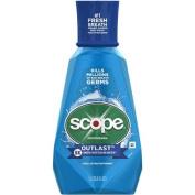 Scope Outlast Long Lasting Peppermint Flavour Mouthwash, 1000ml