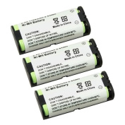 Insten (3 Pack) HHR-P105 KX-FG2451 KX-TG2620 / GE-TL26420 TYPE 31 for Panasonic Cordless Phone Replacement Battery