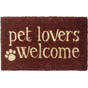 Entryways Pet Lovers Welcome Non Slip Coir Doormat
