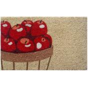 Entryways Apples Handwoven Coconut Fibre Doormat