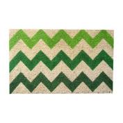 Chevron 46cm . x 80cm . Hand Woven Coconut Fibre Door Mat