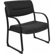 Regency Seating Crusoe Big & Tall Leather Side Chair, Black