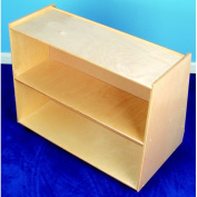 Childcraft Double Sided 2 Compartment Shelving Unit with Casters