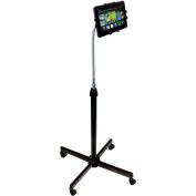 CTA Digital Tablet Height-Adjustable Gooseneck Floor Stand with Casters