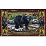 River's Edge Products Bear Door Mat