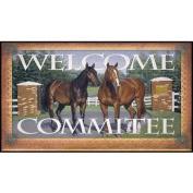 River's Edge Products Welcome Committee Horse Door Mat