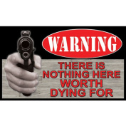 River's Edge Products Nothing Worth Dying Door Mat