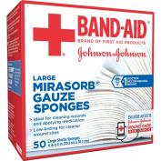Band-Aid Sterile Mirasorb Gauze Sponges, Large, 50 count