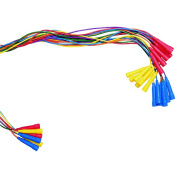 School Smart Colour Coded, Blue Handle Jump Rope, 2.7m, Vinyl, Assorted Rope Colours, Pack of 6