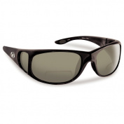 Flying Fisherman 7380Bs-250 Nassau Polarised Sunglasses Black Frames with Smoke Reader +2.50 Lenses