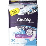Always Discreet Moderate Regular Length Pads, Regular Length, 20 count