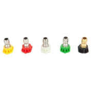 Forney Spray Nozzle Assortment 4.5 Mm 4000 Psi Quick Connect 0 Degrees To 15 Deg To 25 Deg To 300 De