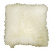 Better Homes and Gardens Arctic Fur Decorative Pillow, Ivory