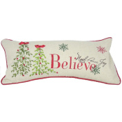 Xia Home Fashions Believe with Christmas Tree-8X18 Pillow