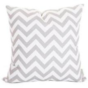 Majestic Home Grey Chevron Large Pillow