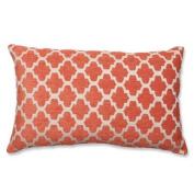 47cm Celosía Naranja Orange and White Decorative Rectangular Throw Pillow