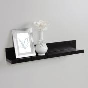 InPlace Shelving 60cm Picture Ledge Floating Wood Wall Shelf, Black